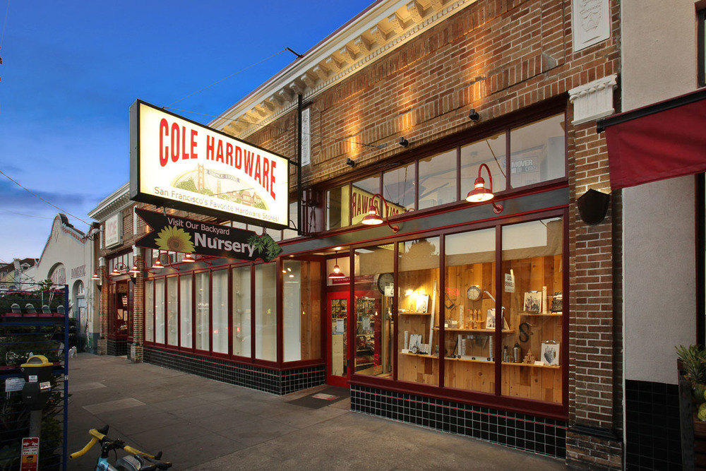 A Cole Hardware store basking in magic hour glow. #beauty.
