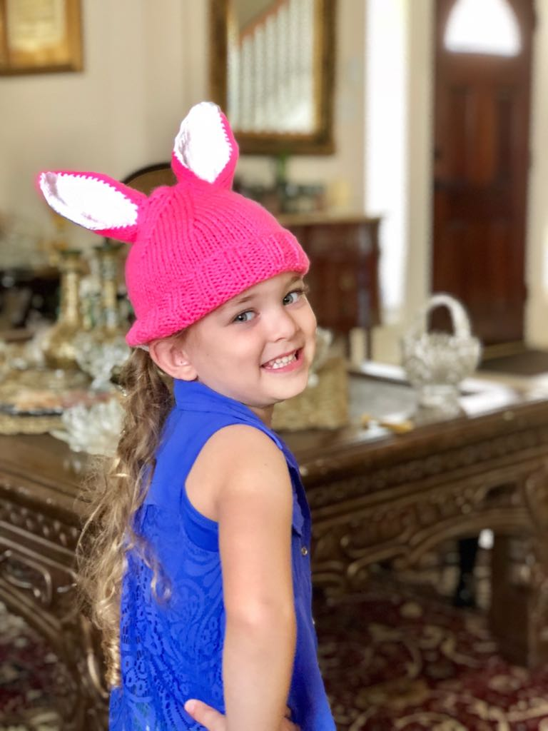pink bunny hat texas childrens.JPG
