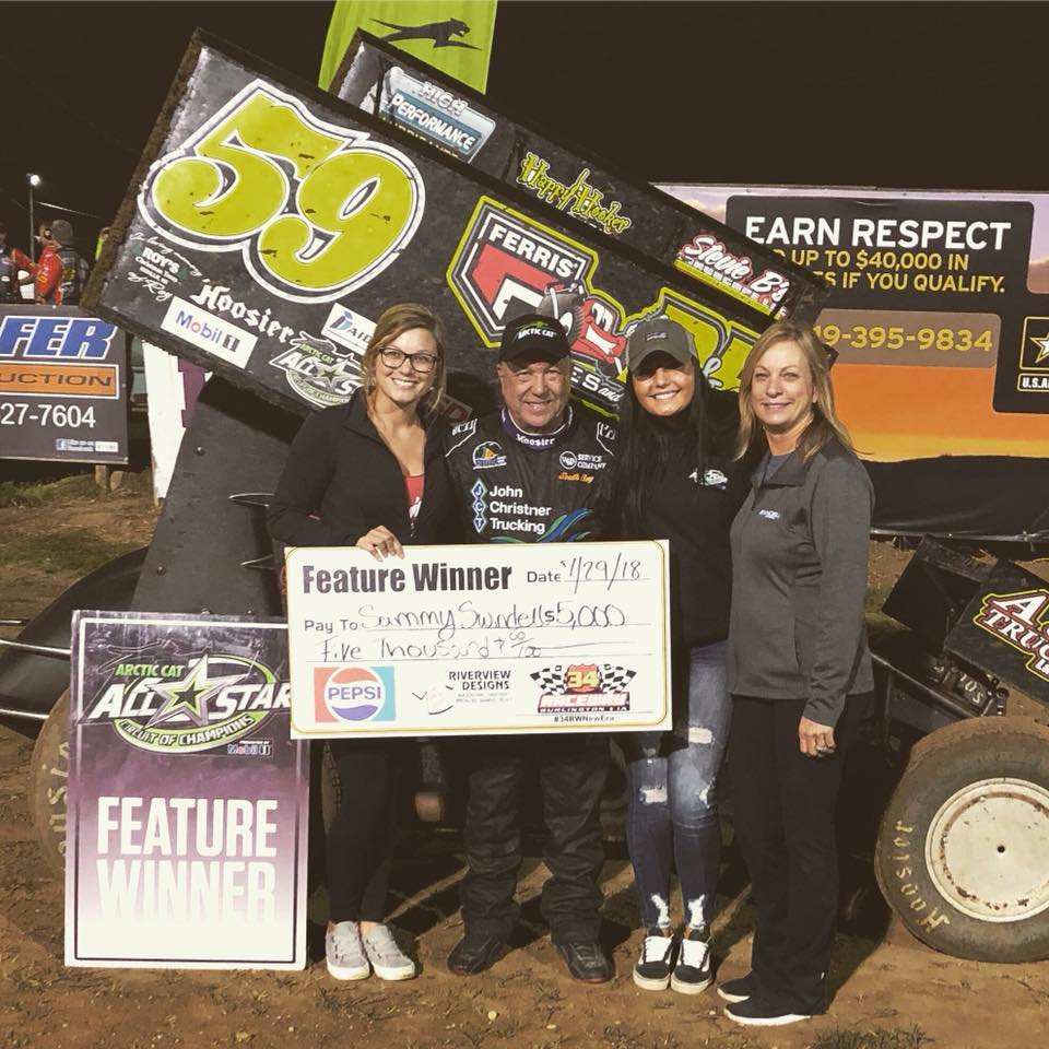 Sammy Swindell Scores All-Star Win at 34 Raceway
