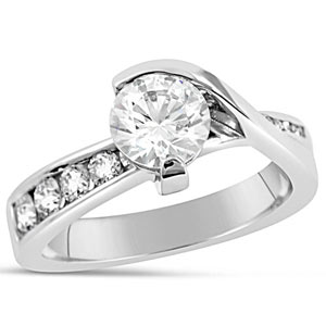 7. Our Worthy engagement ring is perfect for the woman who likes asymetrical beauty.