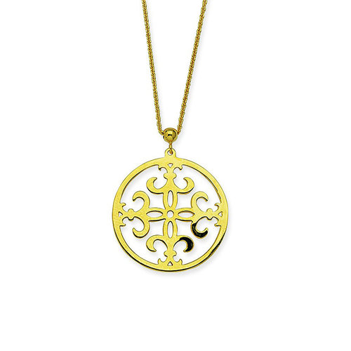 14k yellow gold fleur de lis pendant mark michael diamond designs 14k yellow gold fleur de lis pendant aloadofball Image collections