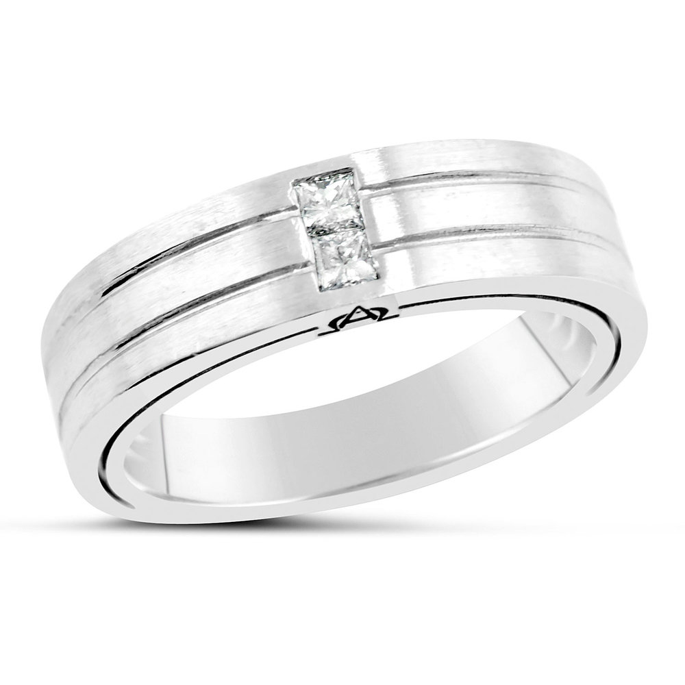3fafbe10bfa9d6 Men's Alpha Collection Two Diamond Ring — Mark Michael Diamond Designs