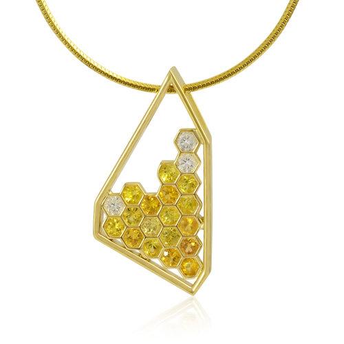 14k yellow gold sapphire diamond necklace mark michael diamond 14k yellow gold sapphire diamond necklace aloadofball Image collections