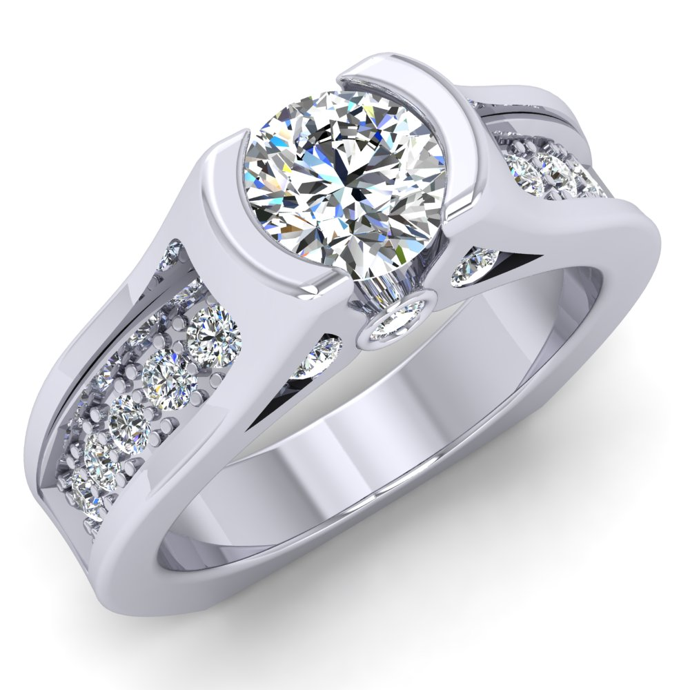Platinum Engagement Ring Rount Brilliant Center Modern Pave.jpg