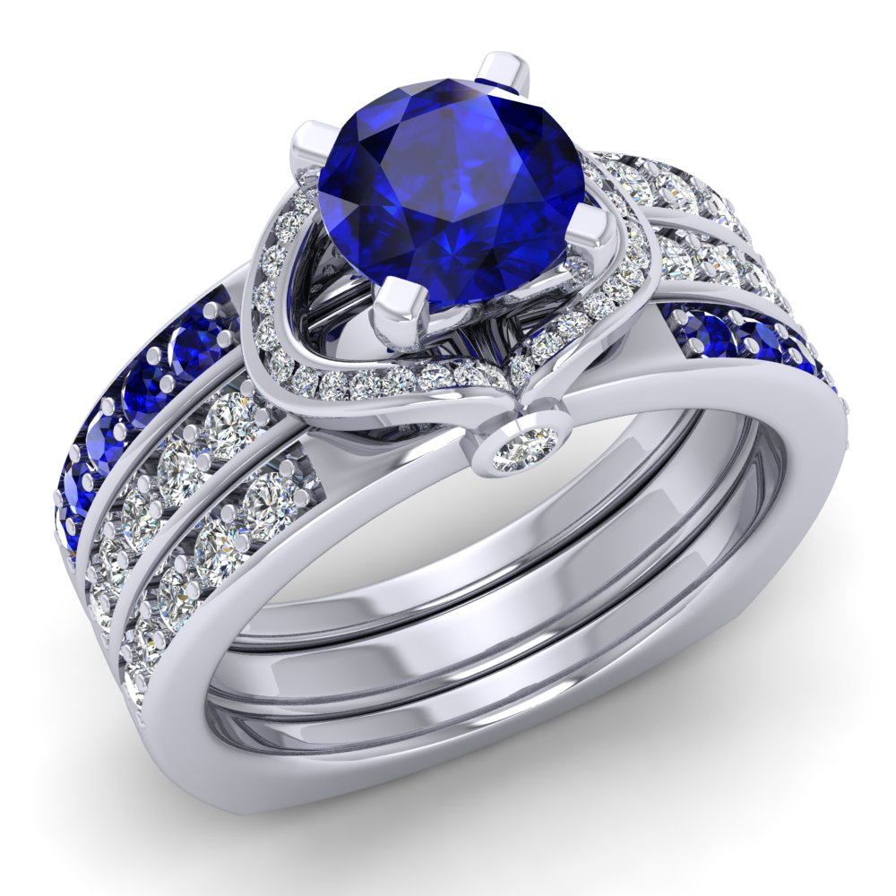 Sapphire Wedding Set Diamond And Platinum Pave.jpg