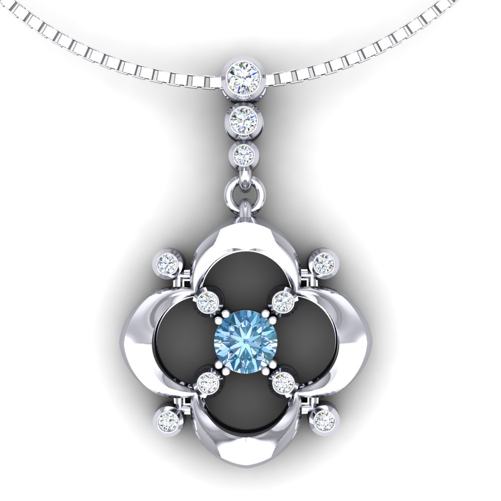 Aquamarine Diamond Pendant White Gold Quatrefoil.jpg