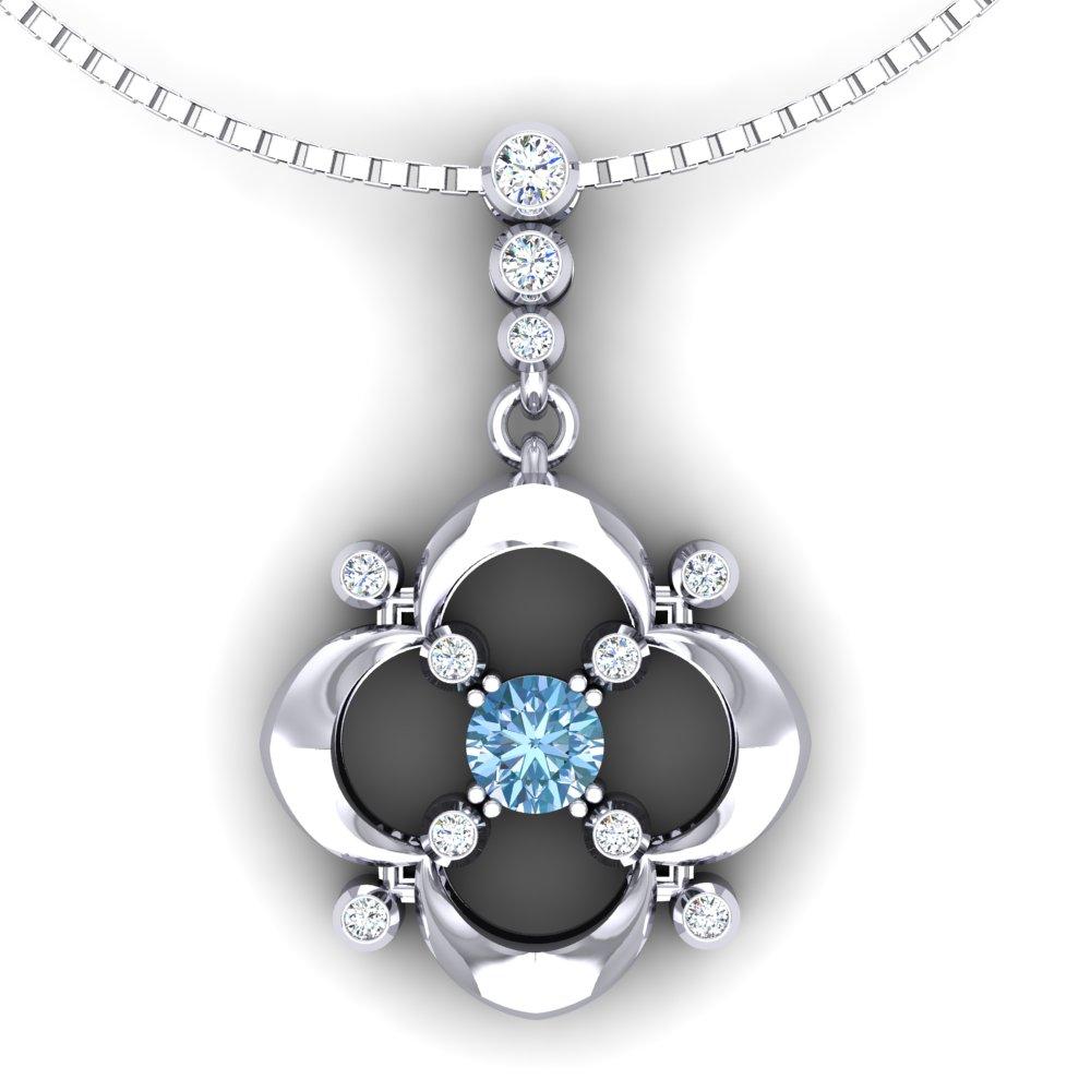 Aquamarine Diamond Pendant White Gold Quatrefoil.jpg
