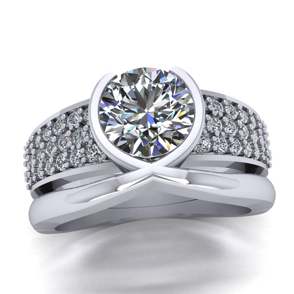 Bold contemporary modern low profile engagement ring.jpg