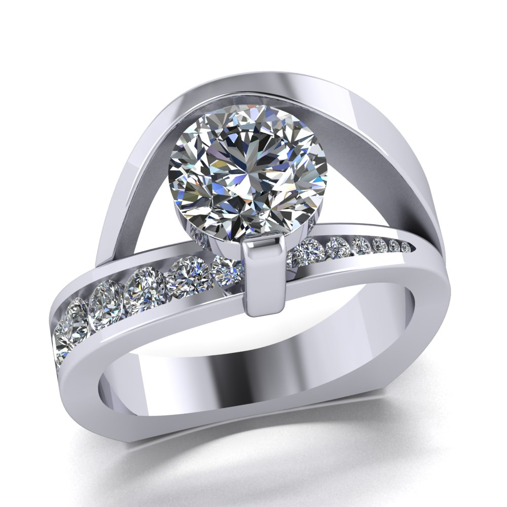 Modern flowing diamond engagement ring.jpg
