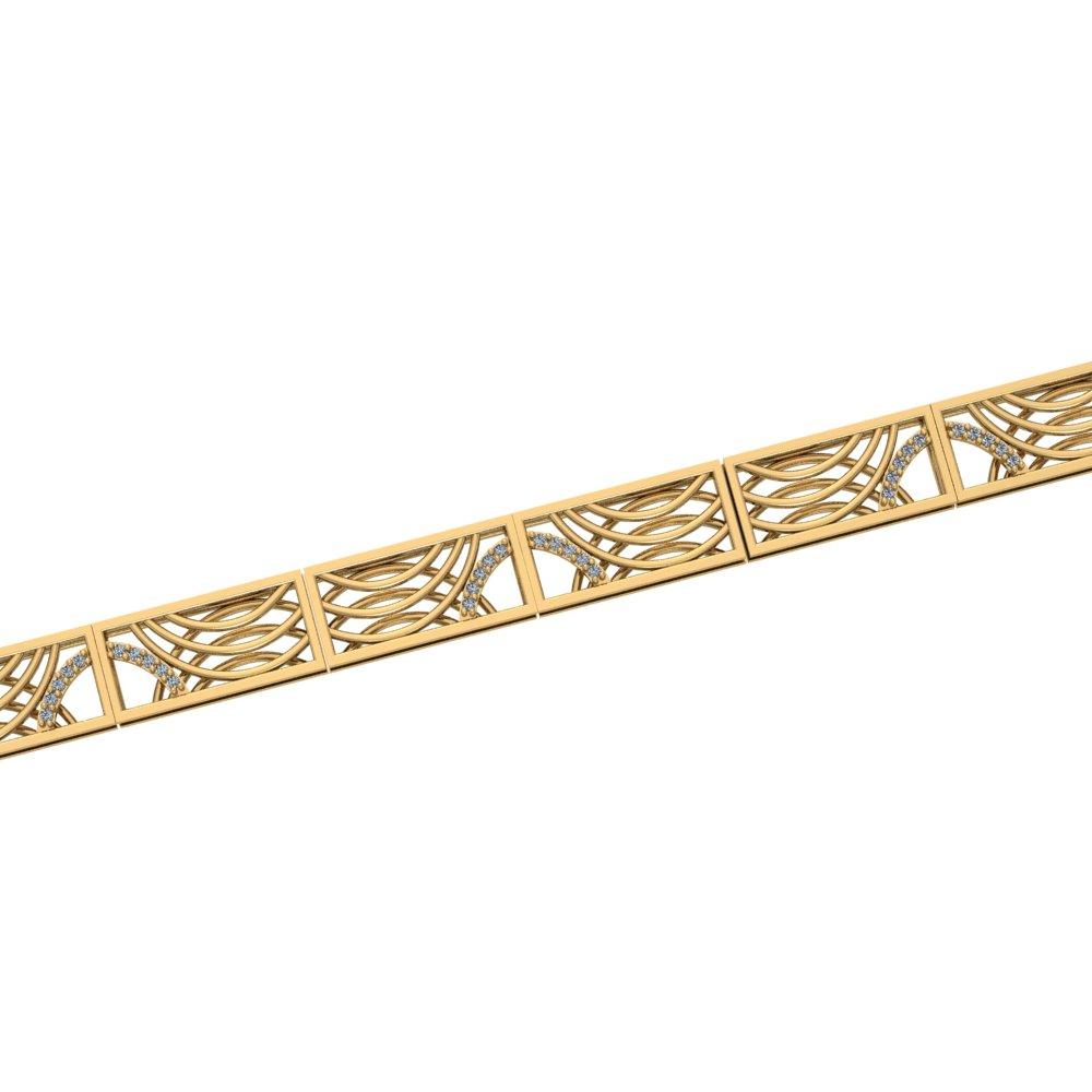 art deco link diamond bracelet with contemporaty twist.jpg