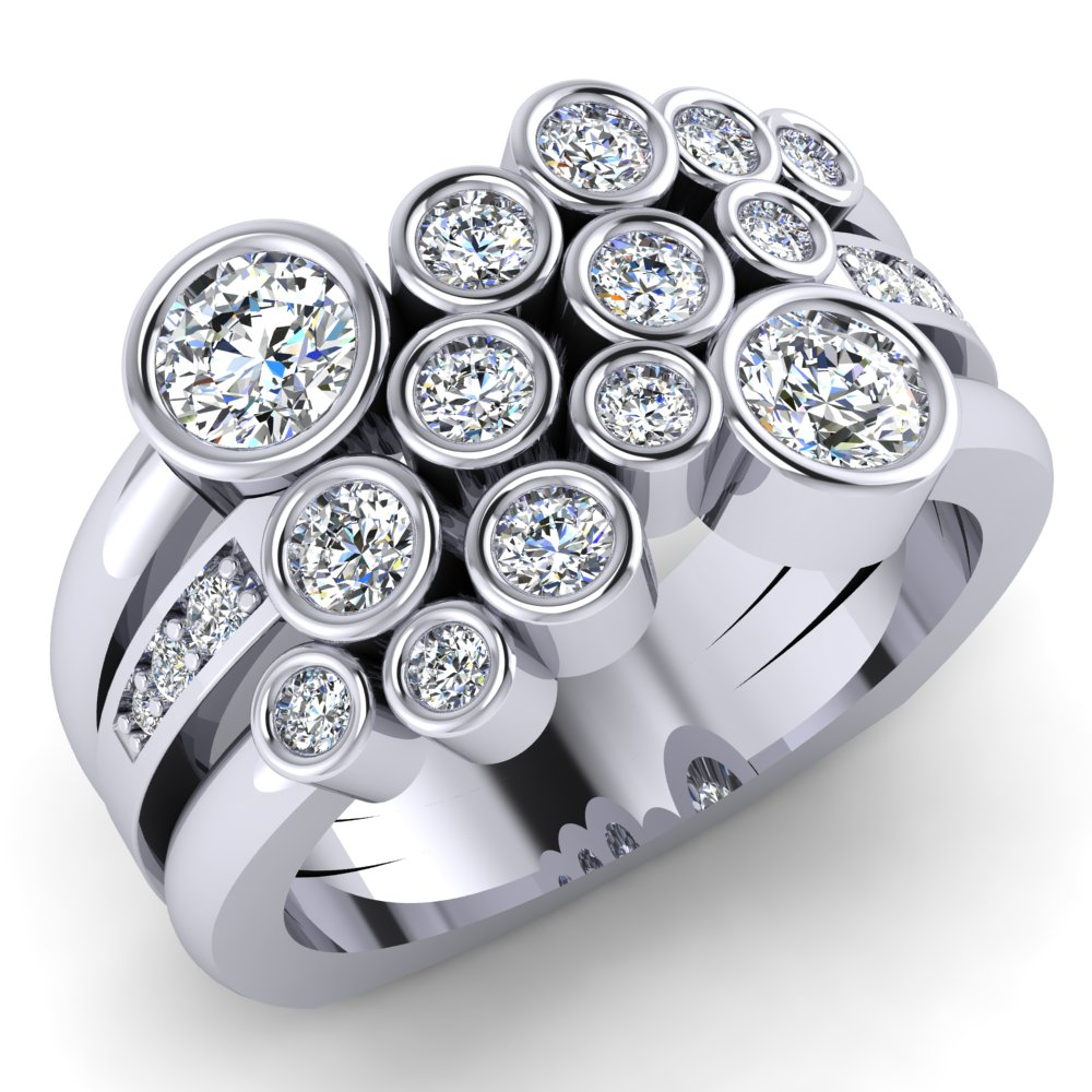 Multi Bezel Round Diamond Cluster Ring Pave Multi Band.jpg