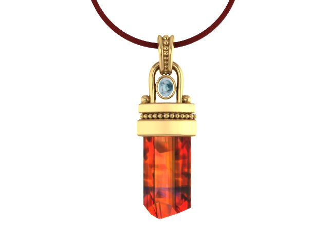 Imperial Topaz Crystal Moonstone Yellow Gold Pendant.jpg