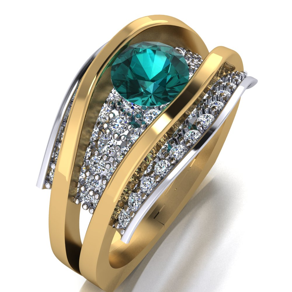 contemporary seafoam diamond ring two tone.jpg