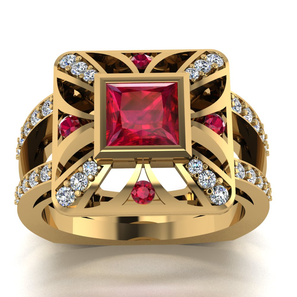 modern art deco inspired ruby diamond ladies ring.jpg