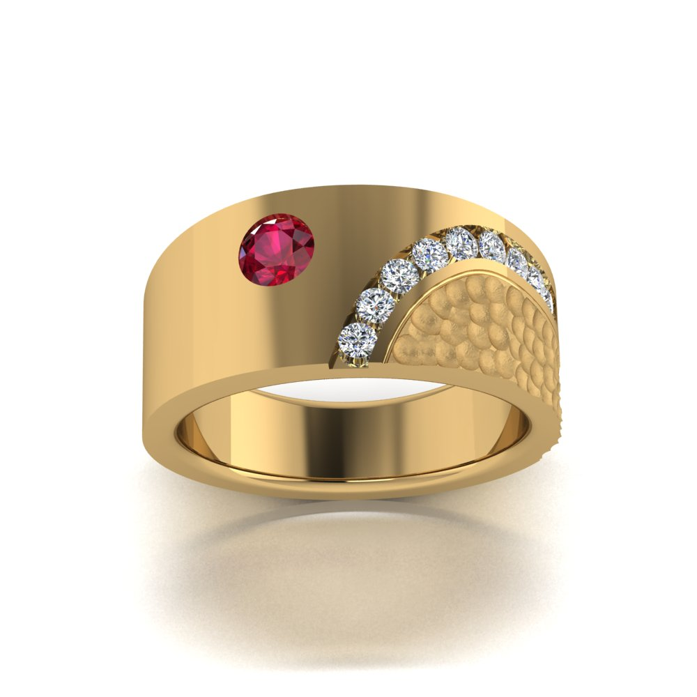 modern mans ruby and diamond ring yellow gold.jpg