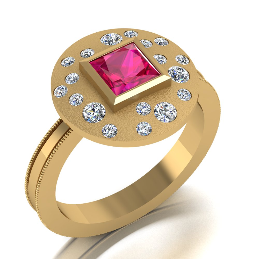 ultra modern ruby ring burnish set diamonds.jpg