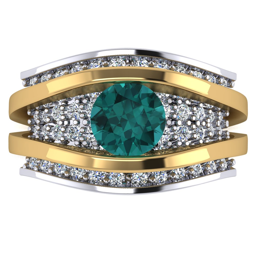 modern seafoam tourmaline and diamond two tone ring.jpg