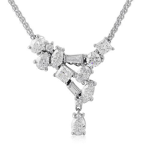 c7c7d6110 18k White Gold Free Fall Diamond Necklace — Mark Michael Diamond Designs