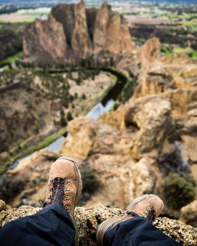 The top of Misery Ridge at Smith Rock State Park in Central Oregon.