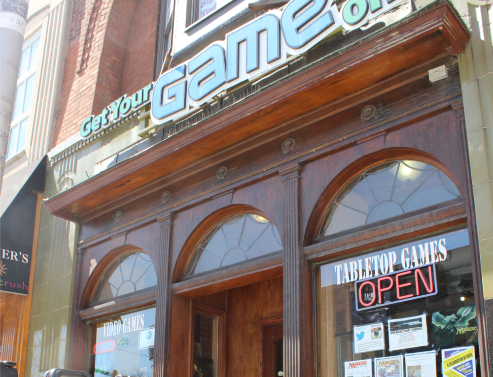 Get Your Game On opened in 2007 and moved to it's current location on State St. south of Liberty St. in 2011