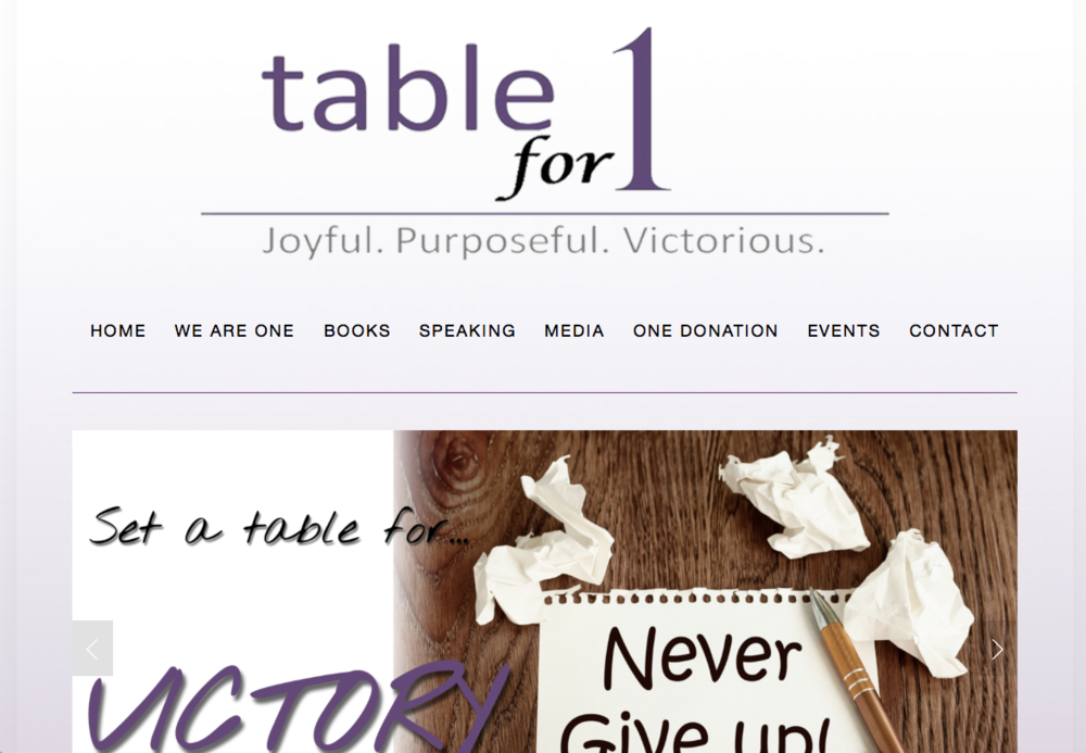 Non-Profit Orgnization   www.TableFor1.org
