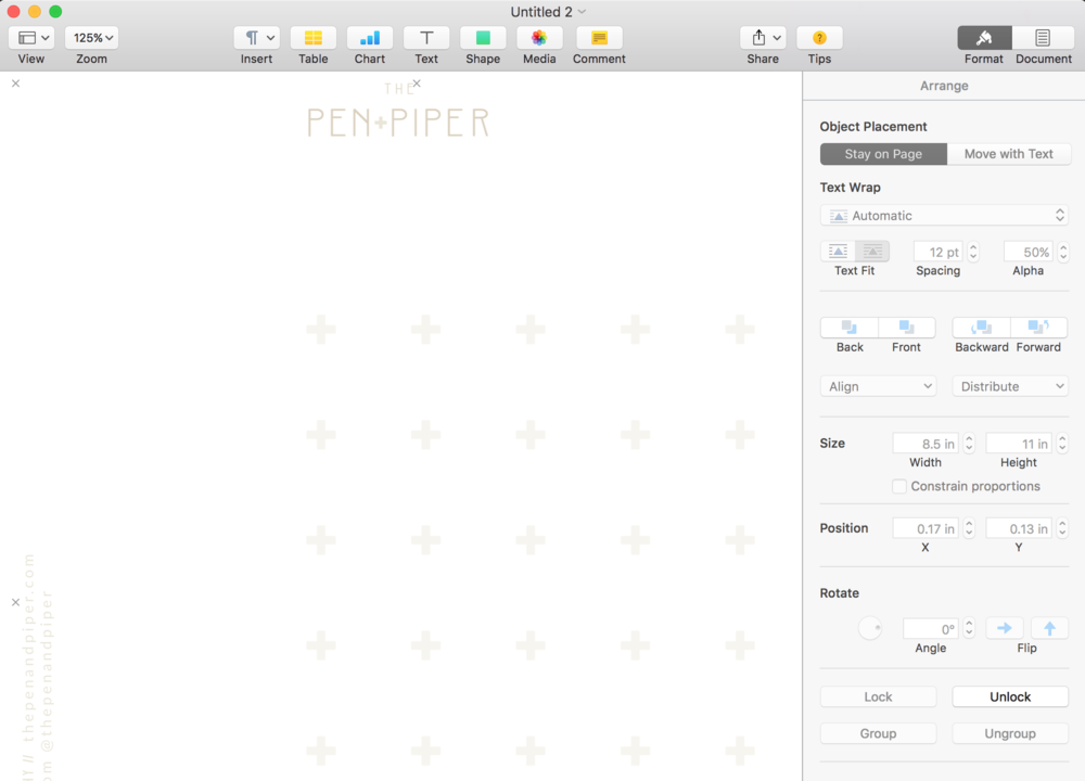 How To Make Your Own Digital Letterhead In Pages Lacey Passman