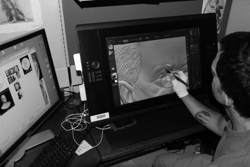 Aquí, Joe muestra cómo se pueden hacer cambios rápidos a los modelos digitales.