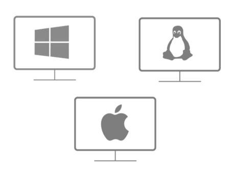 Multi - Plataforma   Opera en los sistemas operativos más utilizados como:Windows (32, 64 bits), Mac y Linux.