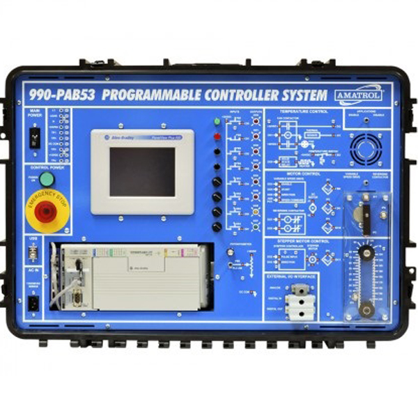 Sistema de aprendizaje de PLC portátil con troubleshooting - Allen Bradley AB5300