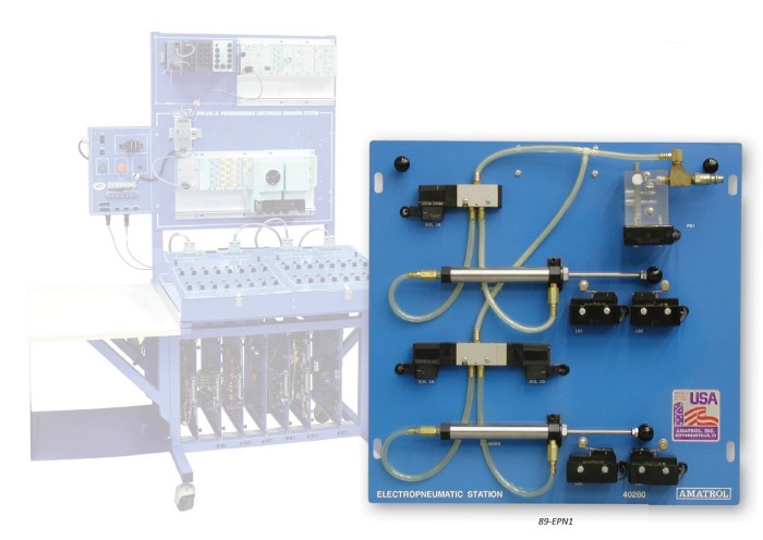 Sistema de aprendizaje neumático PROFINET Siemens ET200