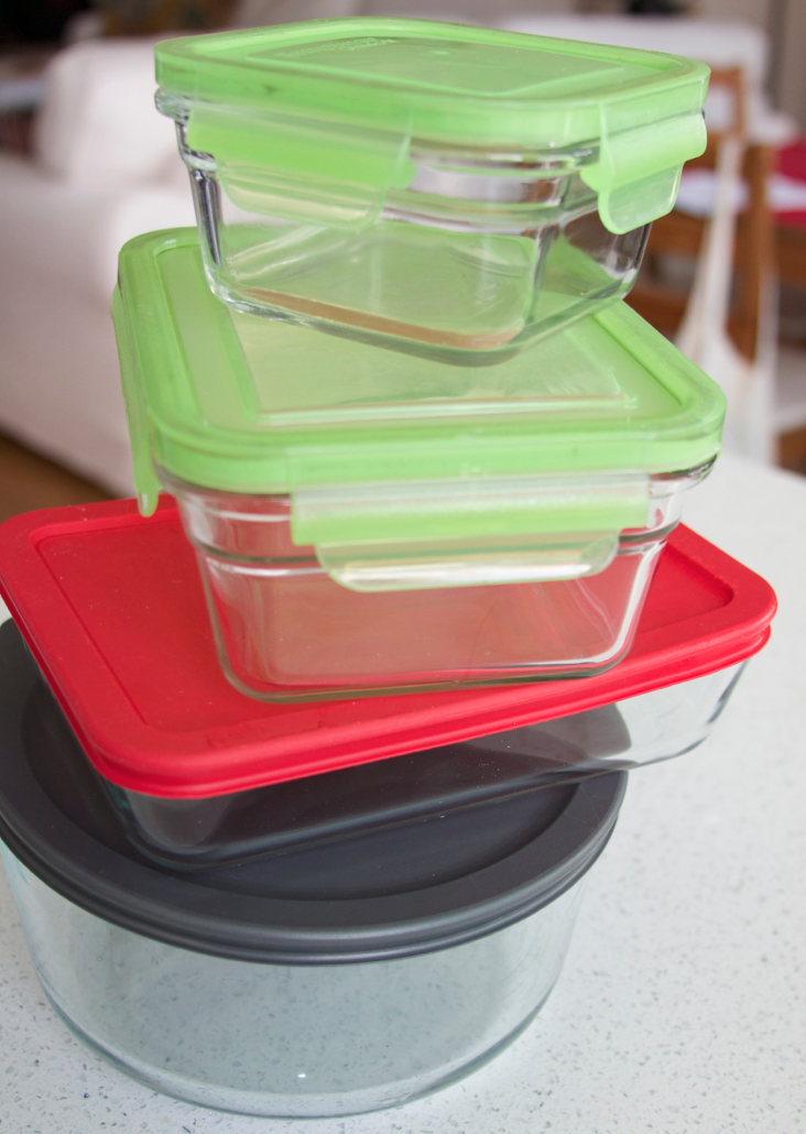 Glass Tupperware of any shape and form are a must at home!