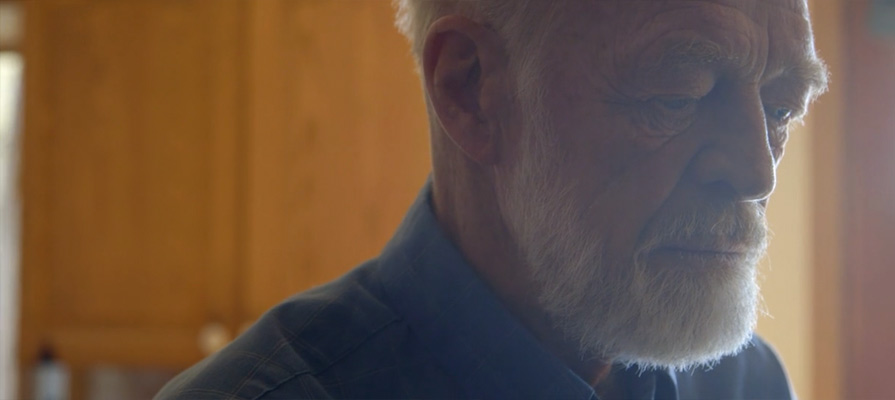Eugene Peterson at his home on Flathead Lake, Montana. Frame courtesy Fuller Studios.