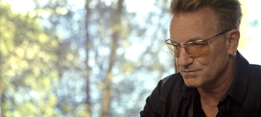Bono of U2 at Eugene Peterson's house near Flathead Lake,  MT. Frame courtesy Fuller Studios.