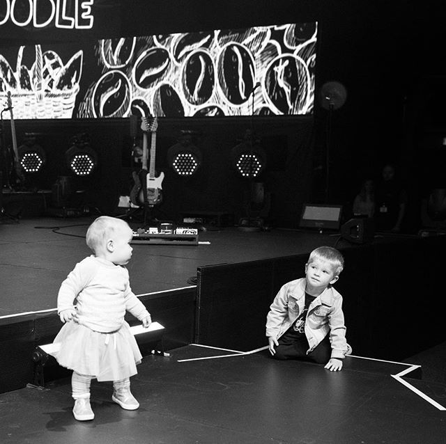 Determined to get on stage... no idea where that comes from. #justlikemama