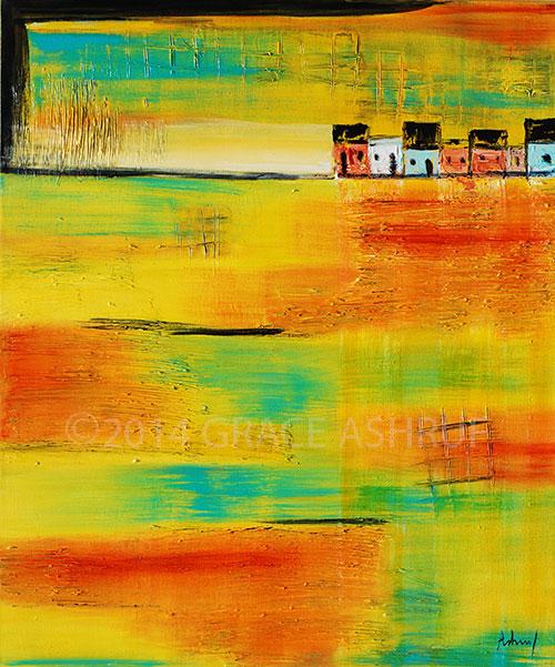 Rustic GlowHorizon byGrace Ashruf, Size 150x125x3 cm