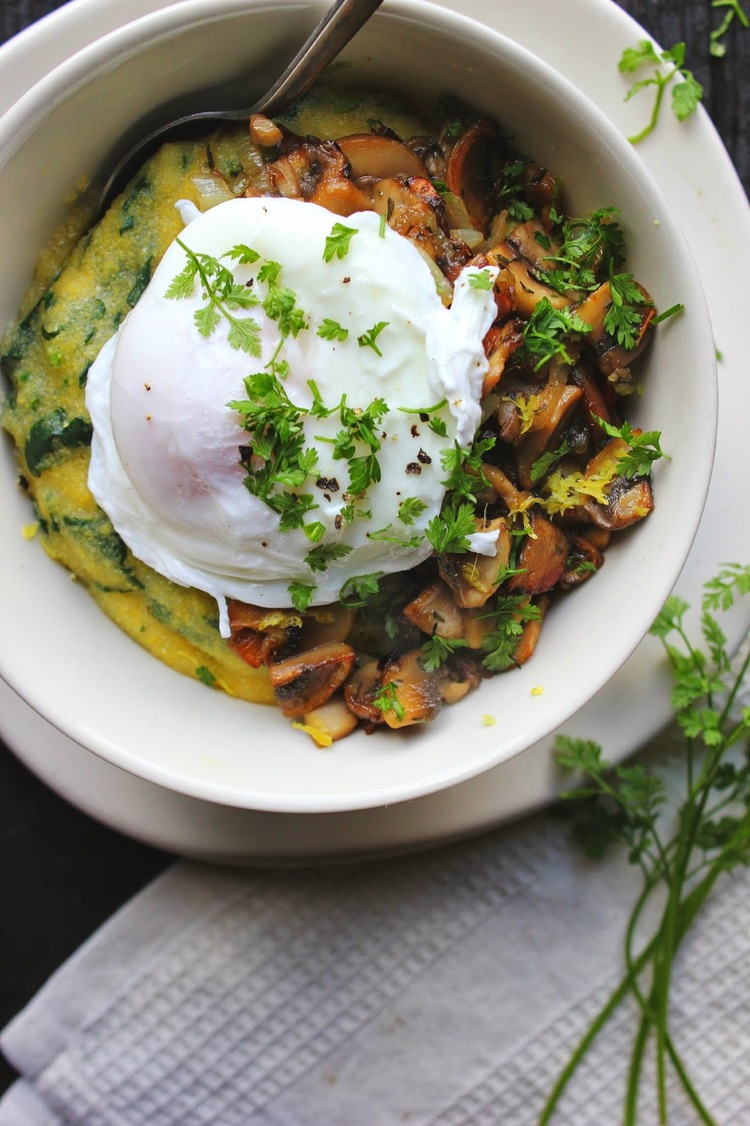 Healthy Breakfast Veggies With A Poached Egg Faithful Workouts