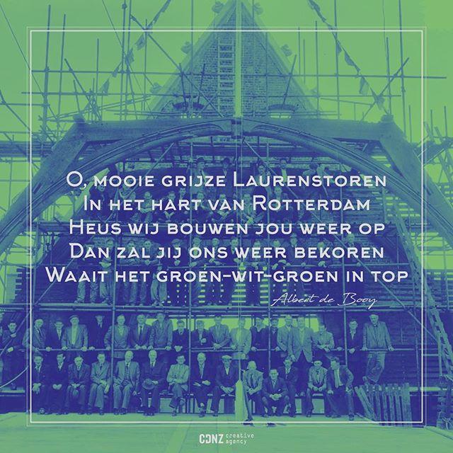 Elke dag de #laurenskerk als uitzicht daar word je toch blij van! Deze mooie plaat van de wederopbouw moeten we dan ook met je delen. #rotterdam #creativeagency