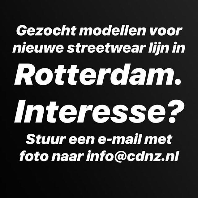 Gezocht #modellen voor nieuwe #streetwearfashion in #rotterdam #010 #fashion #creativeagency