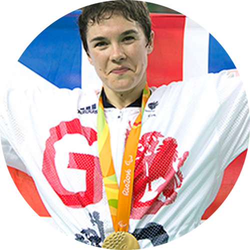 Megan Giglia MBE   GB Paralympic track cyclist