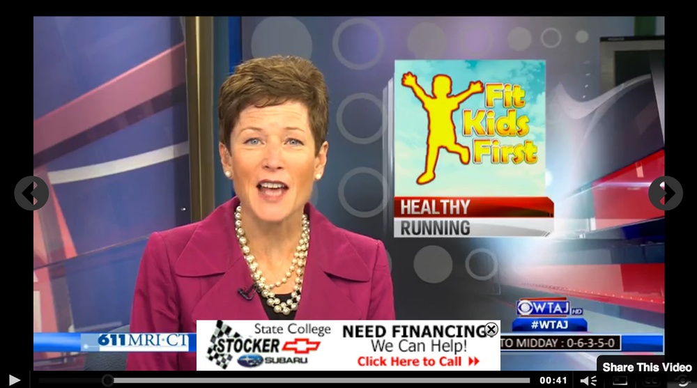 Click on the picture to visit WeAreCentralPA.com to view TV10's coverage of Joshua House's Kids In Motion Running Club.