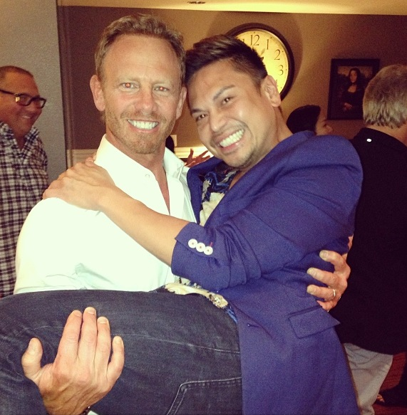 Ian Ziering and Marc