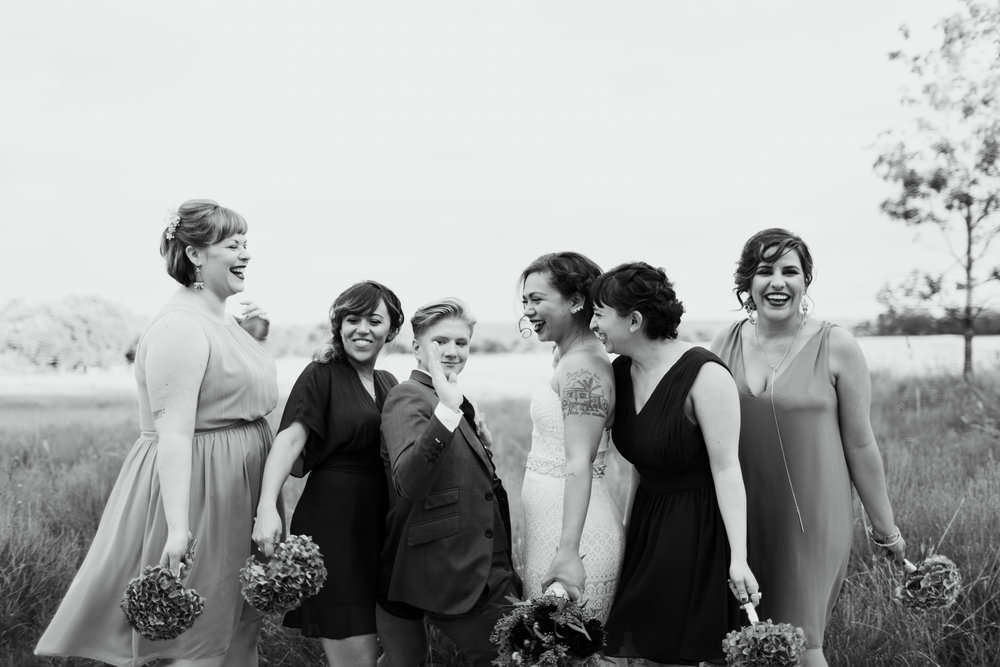 Wedding Party - You have asked your best friends and closest family members to stand up with you during your wedding ceremony, and it's those close relationships that I love capturing on your wedding day. We'll make it fun and perfectly you because I want to capture how much you love your friends, too.