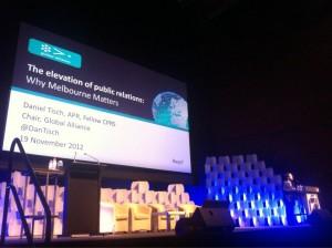 Daniel Tisch at the 2012 World Public Relations Forum in Australia (Photo  Global Alliance)