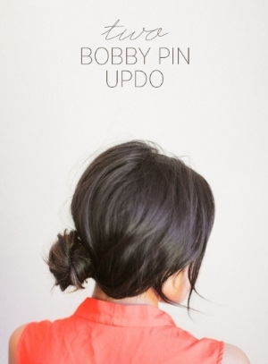 bobby pin updo hairstyle hair stylist how to maple grove minnesota