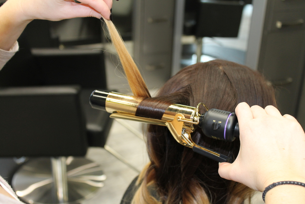 curling iron, jaclyn blumenberg, spark salon, updo, holiday hair, heather klement, maple grove, loreal