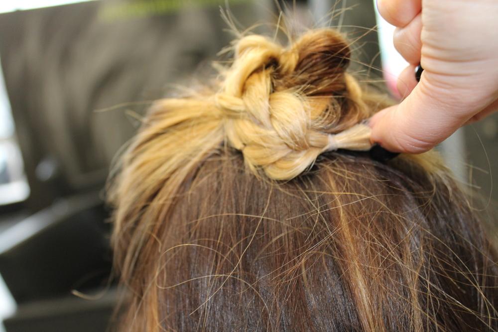 holiday hair, spark salon, spark salon style, updo, braided updo, jaclyn blumenberg, balayage, maple grove, heather klement
