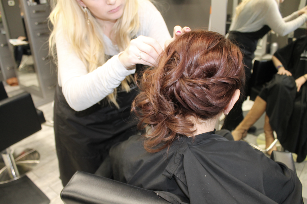 tanya radermacher, updo, spark salon, jaclyn blumenberg, maple grove, holiday hair, spark salon style