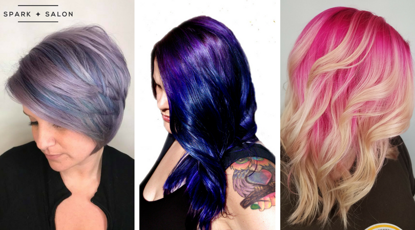 vivid hair, mermaid hair, unicorn hair, pink hair, violet hair, purple hair, colorful hair, maple grove, minnesota, vibrant hair, pravana, plymouth, mn, minneapolis, spark salon
