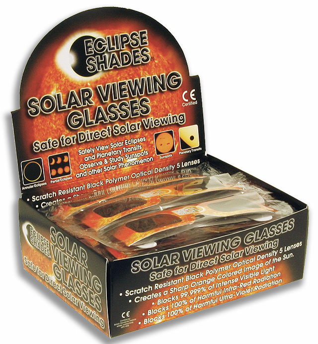 Eclipse Shades® with Retail Display Box - 50 Eclipse Glasses     Shop Here