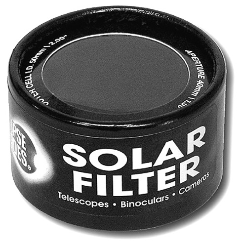 Solar Filters for Binoculars, Telescopes and Cameras and Finder Scopes. Various Sizes     Shop Here